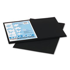 Tru-Ray Construction Paper, 76 lbs., 12 x 18, Black, 50 Sheets/Pack
