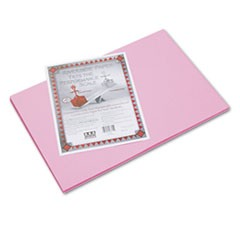 Riverside Construction Paper, 76 lbs., 12 x 18, Pink, 50 Sheets/Pack