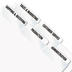 Laser Printable Index Tabs, 2 x 7/8, White, 300/Pack