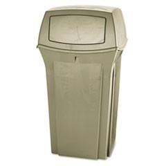 Ranger Fire-Safe Container, Square, Structural Foam, 35 gal, Beige