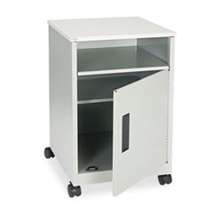 Steel Machine Stand w/Compartment, One-Shelf, 15-1/4w x 17-1/4d x 27-1/4h, Gray