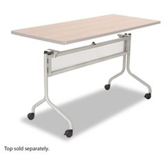 Impromptu Series Mobile Training Table Base, 49-1/2w x 24d x 28h, Silver