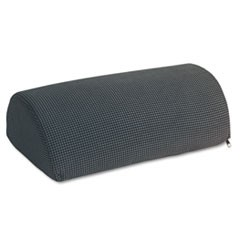 Half-Cylinder Padded Foot Cushion, 17.5w x 11.5d x 6.25h, Black