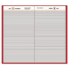 At-A-Glance Standard Diary Daily Diary, Recycled, Red, 12 1/8 X 7 11/16, 2020