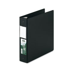 "Clean Touch Locking Round Ring Reference Binder, Antimicrobial, 2"" Cap, Black"