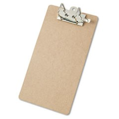 "Recycled Hardboard Archboard Clipboard, 2"" Clip Cap, 8 1/2 x 14 Sheets, Brown"
