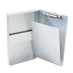 "Snapak Aluminum Side-Open Forms Folder, 3/8"" Clip Cap, 5.66 x 9.5 Sheets, Silver"