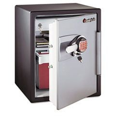 Electronic Safe, 2 ft3, 18-19/32w x 19-5/16d x 23-3/4h, Black/Gunmetal Gray