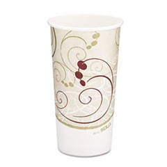 Hot Cups, Symphony Design, 20oz, Beige, 600/Carton