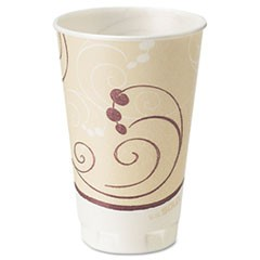 Symphony Design Trophy Foam Hot/Cold Drink Cups, 20oz, Beige, 750/Carton