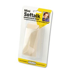 Mini Softalk Telephone Shoulder Rest, 4-1/2 Long x 1-3/4w x 2h, Ivory