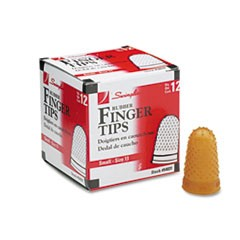 Rubber Finger Tips, 11 (Small), Amber, Dozen