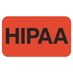 Medical Labels for HIPAA, 7/8 x 1-1/2, Orange, 250/Roll