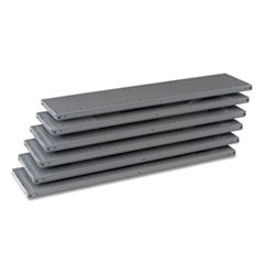 "Industrial Steel Shelving for 87"" High Posts, 48w x 12d, Medium Gray, 6/Carton"