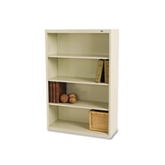 Tennscometal Bookcase, Four-Shelf, 34-1/2W X 13-1/2D X 52-1/2H, Putty