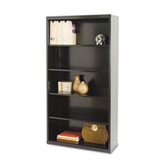 Tennscometal Bookcase, Five-Shelf, 34-1/2W X 13-1/2D X 66H, Black