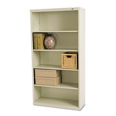 Tennscometal Bookcase, Five-Shelf, 34-1/2W X 13-1/2D X 66H, Putty