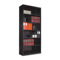 Tennscometal Bookcase, Six-Shelf, 34-1/2W X 13-1/2D X 78H, Black
