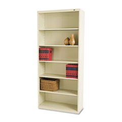 Tennscometal Bookcase, Six-Shelf, 34-1/2W X 13-1/2H X 78H, Putty