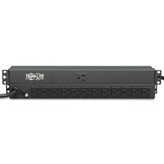 Single-Phase Basic PDU, 13 Outlets, 15 ft. Cord, 1U Rack-Mount