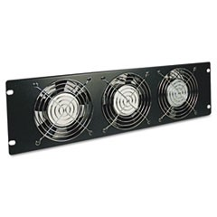 SmartRack Fan Panel, 3U, Three 120V High-Performance Fans, 210 CFM, 5-15P Plug