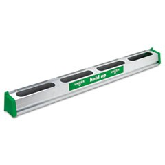 Hold Up Aluminum Tool Rack, 36w x 3.5d x 3.5h, Aluminum/Green