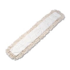 Industrial Dust Mop Head, Hygrade Cotton, 48w x 5d, White