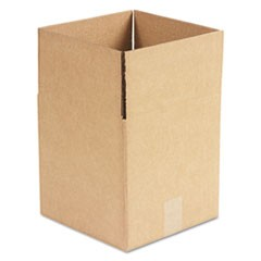 "Cubed Fixed-Depth Shipping Boxes, Regular Slotted Container (RSC), 10"" x 10"" x 10"", Brown Kraft, 25/Bundle"