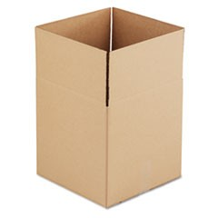 Brown Corrugated - Cubed Fixed-Depth Shipping Boxes, 14l x 14w x 14h, 25/Bundle