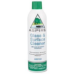Aspire Glass & Surface Cleaner, Lemon Scent, 16oz Aerosol