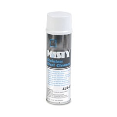 Misty Stainless Steel Cleaner & Polish, Lemon Scent, 15Oz Aerosol, 12/Carton