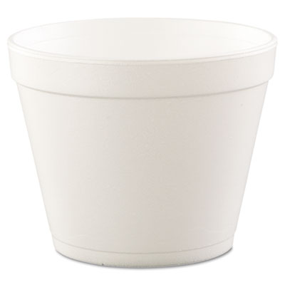 Foam Containers, Foam, 24oz, White, 25/Bag, 20 Bags/Carton