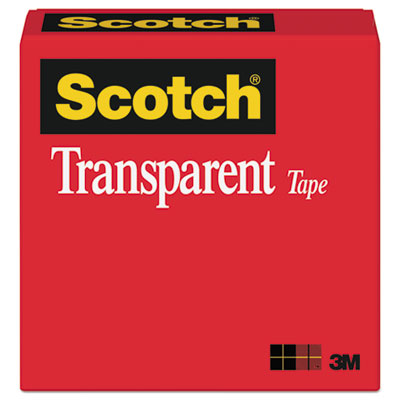 Scotch Transparent Tape, 1  Core, 0.75  X 36 Yds, Transparent