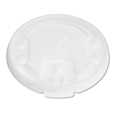 Lift Back & Lock Lids w/Straw Slot, ID Buttons, Translucent,100/PK, 20 Packs/CT