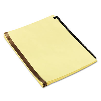 Leather-Look Mylar Tab Dividers, 31 Numbered Tabs, Letter, Black/Gold, Set of 31
