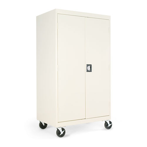 Mobile Storage Cabinet, w/Adjustable Shelves 36w x 24d x 66h, Putty