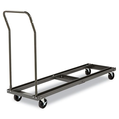 Chair and Table Cart, 20-3/4w x 50-5/8d to 75-3/8d, Black