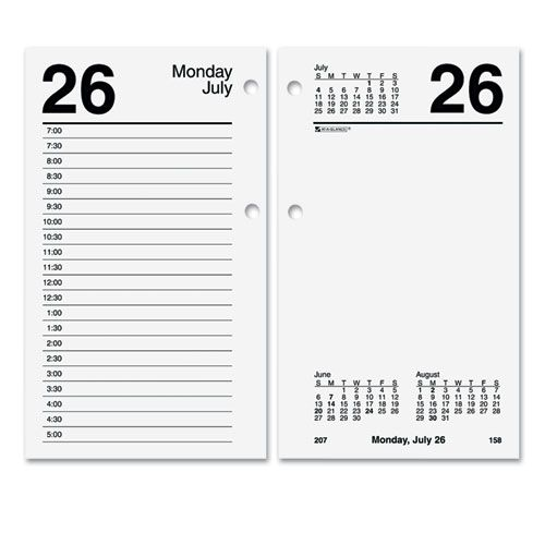 Recycled Desk Calendar Refill, 3 1/2 x 6, White, 2018