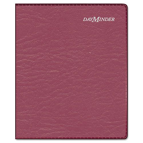 Executive Weekly/Monthly Planner, 6 7/8 x 8 3/4, Burgundy, 2016