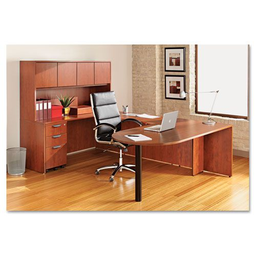 Alera Valencia Series D Top Desk, 71w x 35 1/2d x 29 5/8h, Medium Cherry