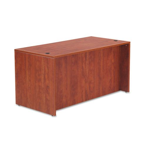 Alera Valencia Series Straight Desk Shell, 59 1/8 x 29 1/2 x 29 5/8, Med Cherry
