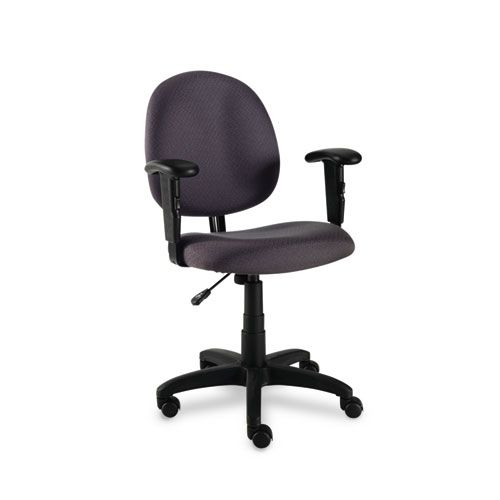 Alera Essentia Series Swivel Task Chair, Acrylic, Gray