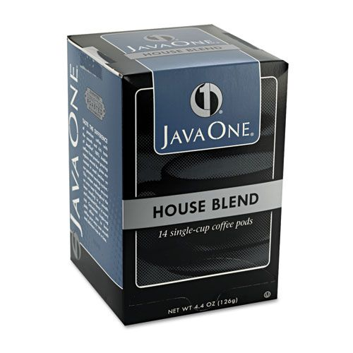 Coffee Pods, House Blend, Single Cup, 14/Box