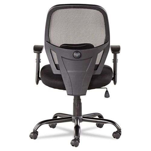 Alera Merix Series Mesh Big/Tall Mid-Back Swivel/Tilt Chair, Black
