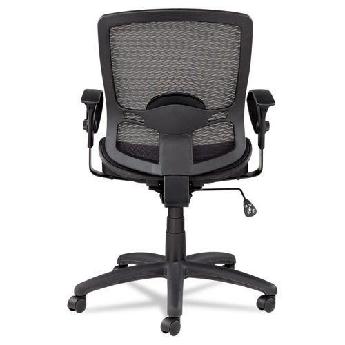 Alera Etros Series Mesh Mid-Back Synchro Tilt Chair, Mesh Back/Seat, Black