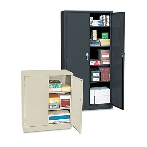 Economy Assembled Storage Cabinet, 36w x 18d x 42h, Putty