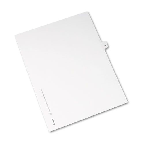 Avery-Style Legal Exhibit Side Tab Divider, Title: 16, Letter, White, 25/Pack