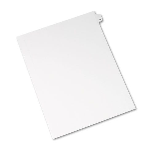 Avery-Style Legal Exhibit Side Tab Divider, Title: 26, Letter, White, 25/Pack