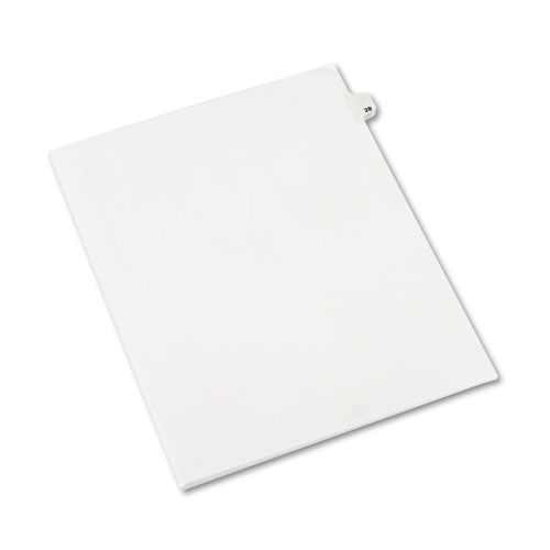 Avery-Style Legal Exhibit Side Tab Divider, Title: 28, Letter, White, 25/Pack