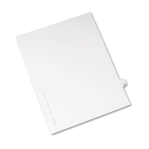 Avery-Style Legal Exhibit Side Tab Divider, Title: 30, Letter, White, 25/Pack
